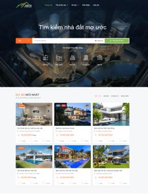 Mẫu Website bất động sản 2104