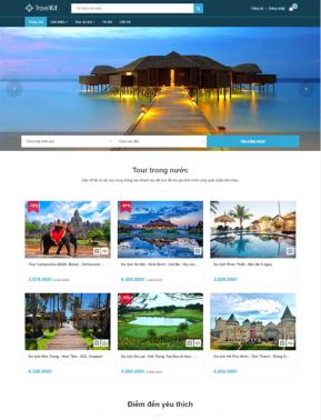 Mẫu Website công ty du lịch Travel 2102