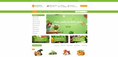 Mẫu Website thực phẩm sạch 2107