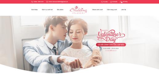 Mẫu website Wedding Planner 2101